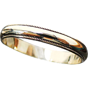 14K Yellow Gold 3 mm Milgrain Wedding Band