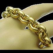 18K Yellow Gold Rolo Link Bracelet