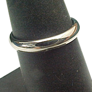 14K White Gold 3 mm Wedding Band
