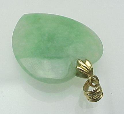 Vintage 14k gold carved jade heart pendant from roll over large image to magnify click large image to zoom mozeypictures Choice Image