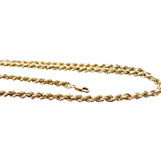 14K Yellow Gold 3 mm Rope Chain 20""