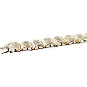 14K Yellow Gold 6.00 Carat Baguette Diamond Bracelet