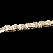 14K Yellow Gold 6.00 Karat Baguette Diamond Bracelet
