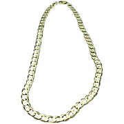 """Solid 14 Karat Yellow Gold 20"""" Curb Link 8.50mm Chain"""