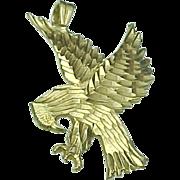 Vintage 14k Gold Eagle Charm