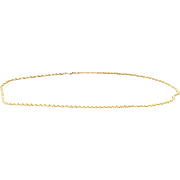 "14K Yellow Gold 2.5 mm Rope Chain 16"""