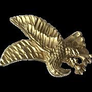 14k Yellow Gold Diamond Cut Eagle Pendant