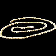 "14K Yellow Gold 2 mm Rope Chain ~ 20"""