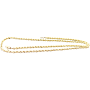 """14K Yellow Gold Solid 3 mm Diamond Cut Rope Chain 20"""""""