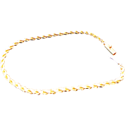14K Yellow Gold Solid 3 mm Diamond Cut Rope Bracelet/Anklet 8""