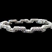14K White Gold Breathtaking 3.00 Diamond Bracelet