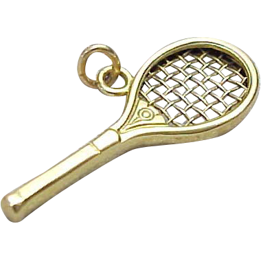 14k yellow gold tennis racket pendant from kingdavidstreasures on 14k yellow gold tennis racket pendant mozeypictures Choice Image