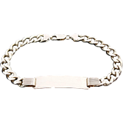 "Gorgeous Solid 18 Karat Yellow Gold 10MM Curb Link ID 9"" Bracelet"