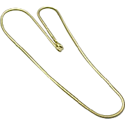 14K Yellow Gold Flat Snake Chain 18""