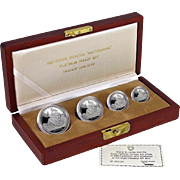 ☆EXTREMELY RARE☆ 1987 Switzerland Helvetica 4-Coin Matterhorn Platinum Proof Set