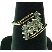 Estate 14K Yellow Gold 1 CTW Diamond Cluster Ring
