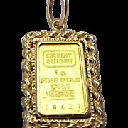 Fine Gold Credit Suisse Charm / Pendant