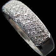 14K White Gold 1.00 Carat Round Diamond Band