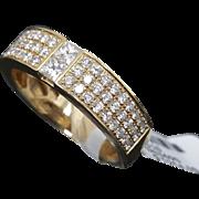 Beautiful 14K Yellow Gold Diamond Band ~ VVS1-VVS2 F-G Diamond Ring