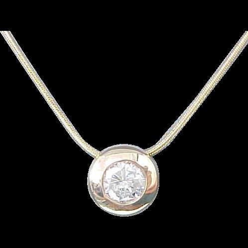 Carat Diamond Bezel Necklace
