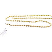 """14k Gold Solid Diamond Cut Rope Chain ~ 20"""""""