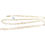 """14k Yellow Gold Solid 6 mm Anchor Chain ~ 22"""""""