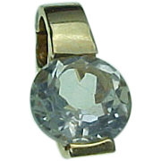 14K Yellow Gold 2.75 Carat Enhancer SOLITAIRE Pendant