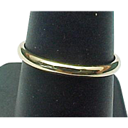 14 K Yellow Gold, 2 mm Gold Band