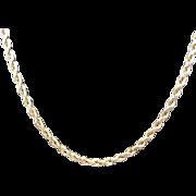 "Vintage 10k Yellow Gold Diamond Cut Rope Chain ~ 30"""