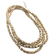 """Gorgeous 14 Karat Rosy Yellow Gold 3.25 mm Floral Orange Blossom Popcorn Link 40"""" Chain Necklace"""