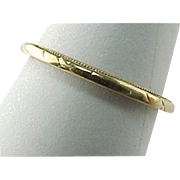 Vintage 1.5 MM Yellow Gold Wedding Or Stacking Band