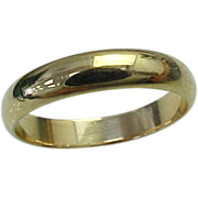 Unisex 14K Yellow Gold 5mm Wide Wedding Band