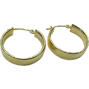 14K Yellow Gold Medium 5 mm Hoop Pierced Earrings