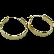 14K Yellow Gold Medium 5 mm Hoop Pierced Earrings