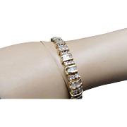 "Gorgeous 14 Karat Yellow Gold 5.00 Carat Diamond 7"" Bracelet"
