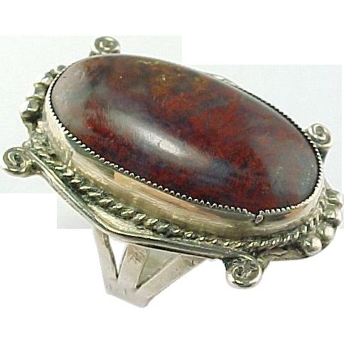 Red Jasper Sterling Silver Ring