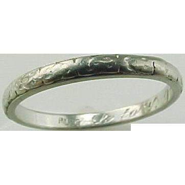 Hand Engraved Platinum Wedding Band Circa 1922 From Kingdavidstreasures On Ruby Lane