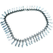 Mexico Taxco Roman Chavarrieta 950 Sterling Silver Fancy Link Necklace