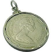 1966 Elizabeth II Bahamas Islands Ten Cents Coin Pendant