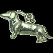 Vintage Sterling Silver Dachshund Dog Charm