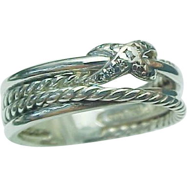 david yurman sterling silver x crossover ring with