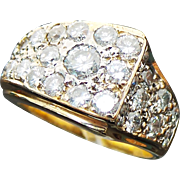 Custom Handmade Solid 14K Yellow Gold 3.00 Carat Diamond Ring~ One Of A Kind~