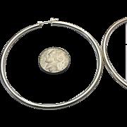 """Sterling Silver Extra Large 2-3/4"""" Hoop Earrings"""