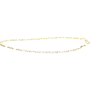 14k Yellow Gold Figaro 2 mm Bracelet/Anklet 9""