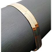 10k Yellow Gold 9.25 mm wide Herringbone Bracelet
