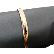 10K Yellow Gold High Polished Bangle Bracelet