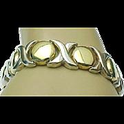 Vintage Sterling Silver Vermeil Kisses & Hugs Bracelet