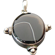 Vintage Sterling Silver Jasper Pendant
