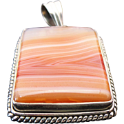Sterling Silver Jasper Rectangle Pendant