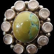 Sterling Silver Jasper & Rose Quartz Ring